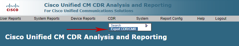 CUCM CDR analysis and Reporting