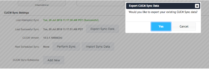 Export CUCM Data Sync From Variphy - Variphy Cisco CDR