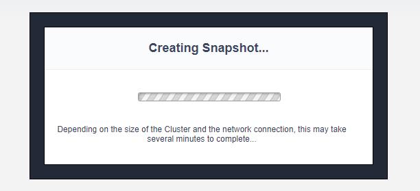 Creating Snapshot