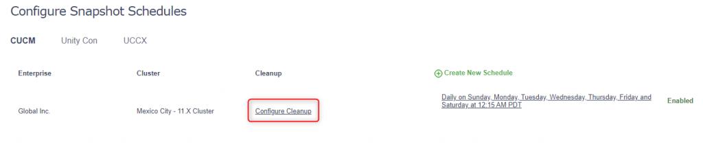 Schedule CleanUp
